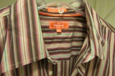 FACONNABLE JEANS Men's Button Up Dress Casual Shirt XL XLARGE MINT