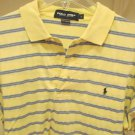 RALPH LAUREN POLO GOLF SHIRT S/S YELLOW WITH A BLACK Pony LARGE L WOW