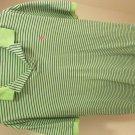 RALPH LAUREN POLO GOLF SHIRT S/S GREEN WITH A ORANGE Pony LARGE L WOW
