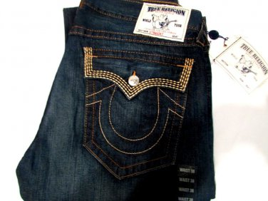 NWT True Religion Mens Jeans 38 USA 100% Authentic
