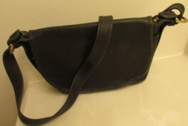 COACH BLACK LEATHER Vintage SHOULDER BAG CROSSBODY HAND PURSE M4N-4154
