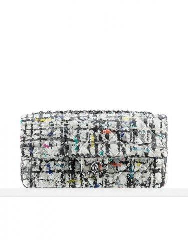 NWT Chanel Hand Painted Calfskin  Flap Bag