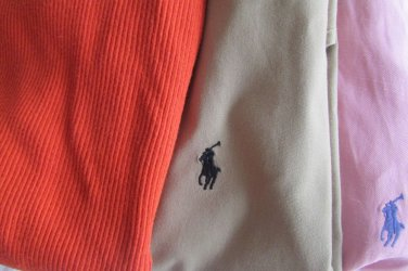 Lot of 3 Polo Ralph Lauren Men's Dress To Casual Shirts & Polo L/S Shirt Large L