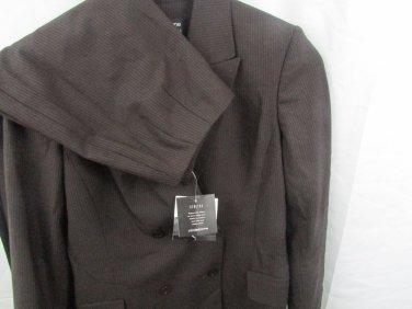 $ 326 NWT Liz Claiborne Brown wool- blend Collection Suit(Jacket & Pant) Suits 4