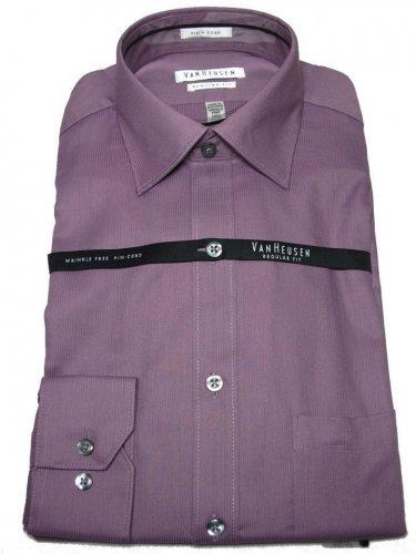 Van Heusen Classic Men Fit Purple Color Dress Shirt Size 17 1/2 NEW with Tag