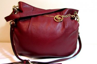 Michael Kors Bedford Leather Large Convertible Shoulder Bag Cinnabar - NWT $298