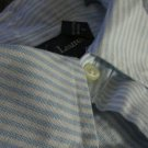 RALPH LAUREN BLUE striped Custom Fit XL OR 17 1/2 Shirt Cotton awesome