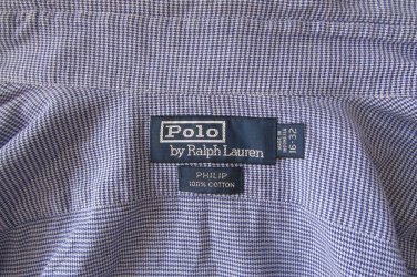 RALPH LAUREN Regent Classic Fit size 16 32/33 Shirt in Blue Striped Nice