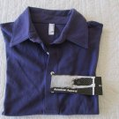 NWT PURPLE AMERICAN APPAREL Men's USA Made Short Sleeve Polo Shirt S SMALL