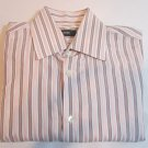 Hugo Boss Shirt Purple, Pink, White Stripes Size 15.5-34/35  Black Label