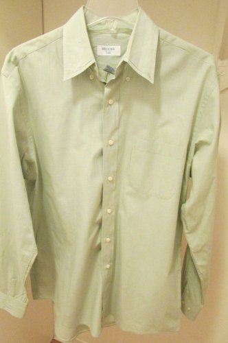 BROOKS BROTHERS 346 men's dress shirt NICE! 15.5 34/35 Cotton Green