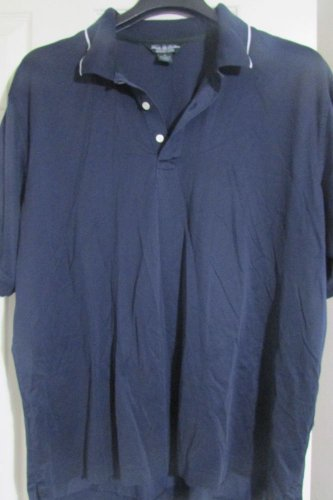 NEW! Brooks Brothers Performance Knit Polo Shirt Men XL XLARGE Blue NWOT