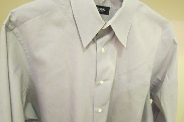 HUGO BOSS Gray Dress to Casual Shirt sz 16.5 32X33