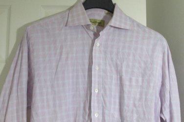PAUL STUART Pink & Blue Stripes  Button Down Shirt - Size 15 1/2 34 Canada Made