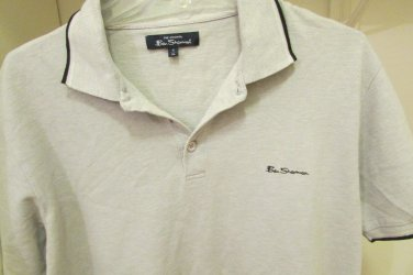 BEN SHERMAN PLECTRUM MENS  POLO SHIRT SIZE XL XLARGE BEIGE AWESOME!!
