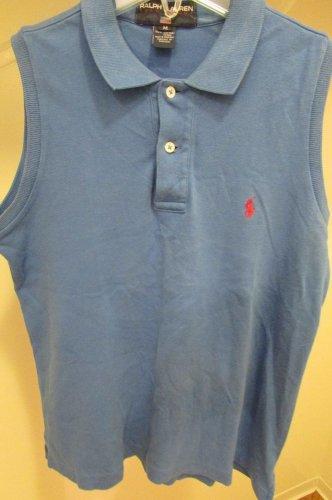 Polo Ralph Lauren Sleeveless Shirt BLUE  Cutoff SLEEVELESS Mens M