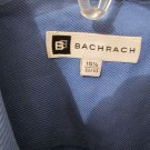 Bachrach Mens Button Front French Cuff BLUE Dress Shirt 15 1/2 32/43