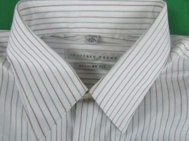 $ 52 Geoffrey Beene Men's dress Shirt Regular Fit  15 32/33 Wrinkle Free
