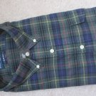 $98 NWT POLO RALPH LAUREN GREEN CHECKS DRESS SHIRT 2XL XXL XXLARGE 2XLARGE  NEW