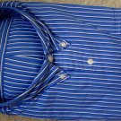 $98 NWT POLO RALPH LAUREN BLUE STRIPES DRESS SHIRT 2XL NEW  100% AUTHENTIC