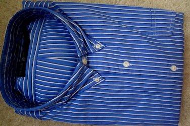 $98 NWT POLO RALPH LAUREN BLUE STRIPES DRESS SHIRT 2XL NEW  100% AUTHENTIC