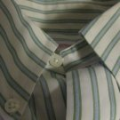 Brooks Brothers Traditional Fit Dress To Casual Shirt Green Stripes  L Large