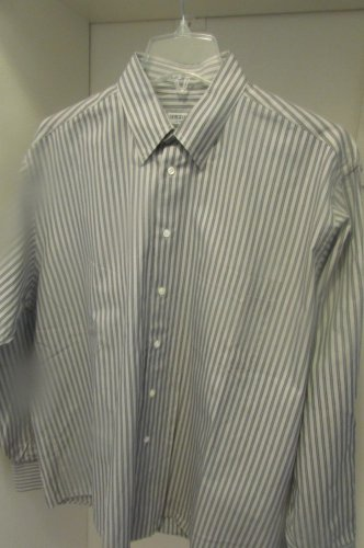 men's GEORGIO ARMANI 16 34-35 Gray  BUTTON UP SHIRT