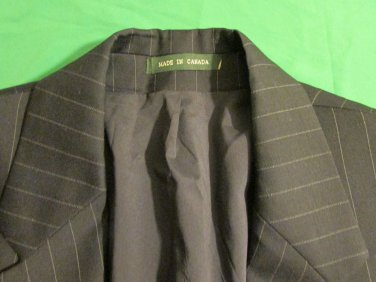 Ralph Lauren Mens 100% Wool  Blazer 3 Btn Sport Coat Jacket 38 R Canada striped