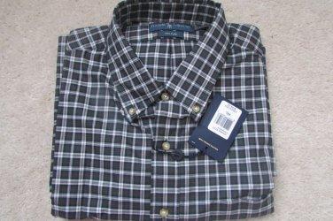 $145 NEW POLO RALPH LAUREN GREEN 120'S  2-PLY SOFT COTTON  DRESS SHIRT 2XL NWT