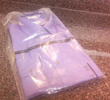 Van Heusen Regular Men Purple Color Dress Shirt  Size 16  NEW with Tag
