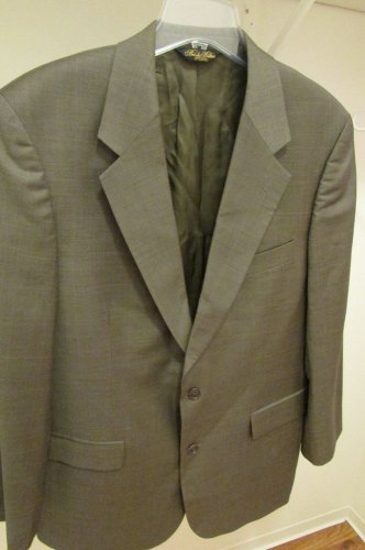 BROOKS BROTHERS Men's 100% WOOL GRAY Suit Coat BLAZER Jacket Sz 42R VERY NICE