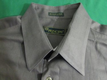 Principe Men's Shirt Great Texture And Color Size  Italy 16  1/2 34/35 WOW