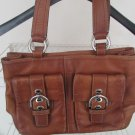 Authentic Leather Coach Bag - Brwon Medium Size