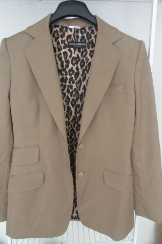 Dolce & Gabbana 90% Virgin Wool Women Blazer Jacket 44 10 Brown