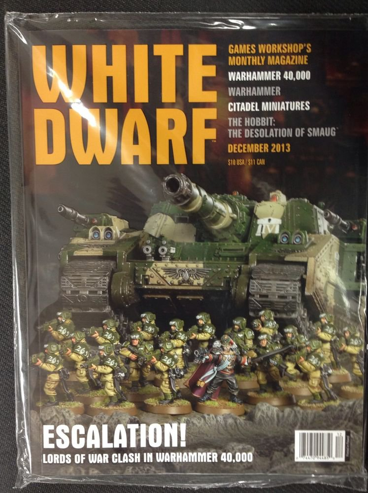 GAMES WORKSHOP WARHAMMER 40K WHITE DWARF MAGAZINE DECEMBER 2013 NEW SEALED