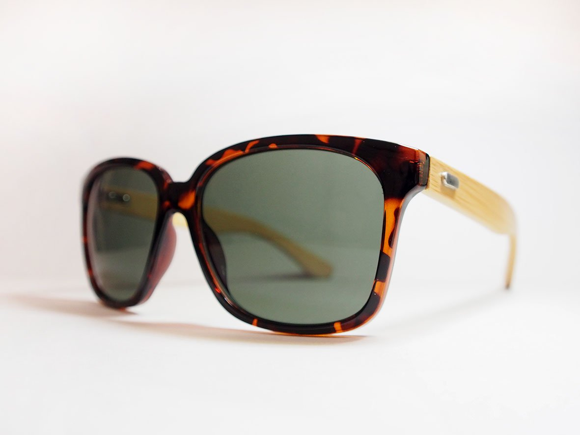 Bamboo Wood Sunglasses - Tortoise Aviator Industrial Eyewear