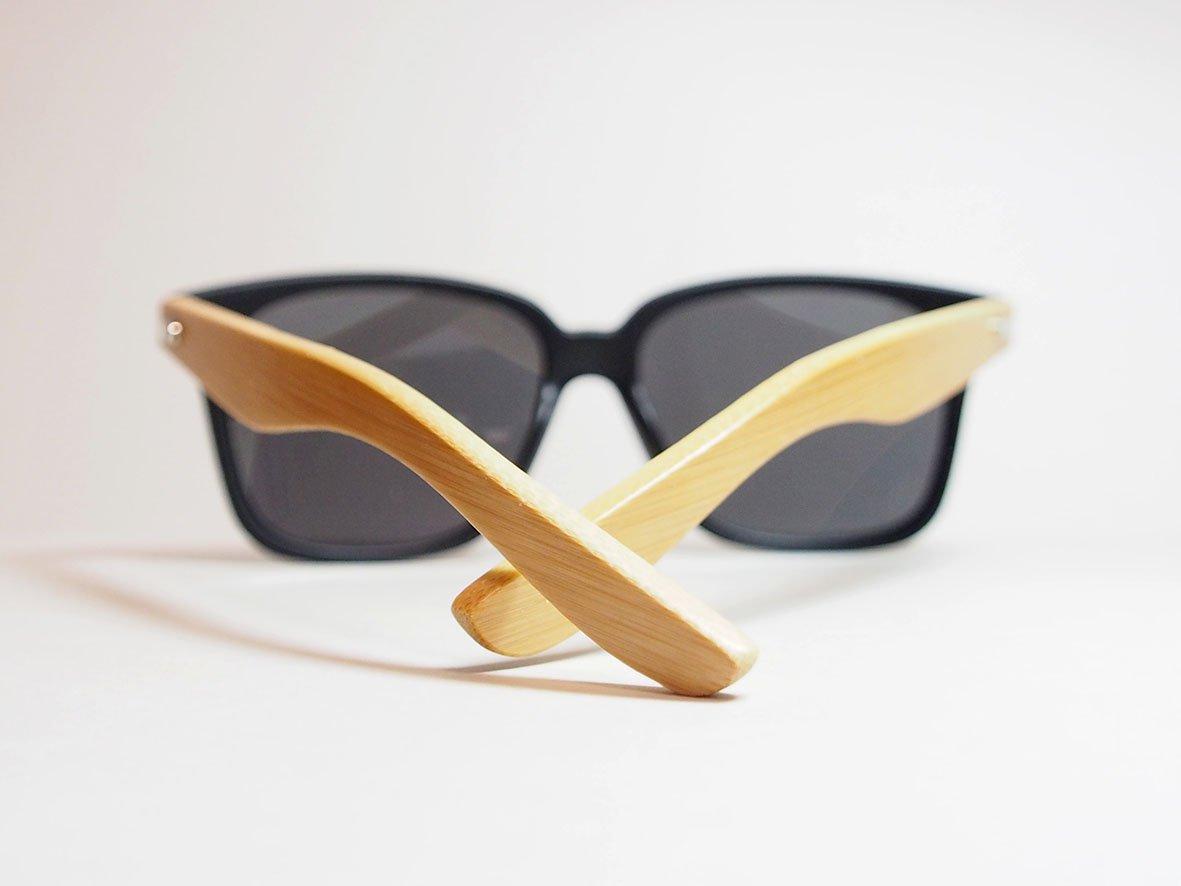 Bamboo Wood Sunglasses - Black Aviator Industrial Eyewear