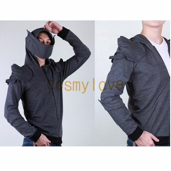 Free Shipping Hot Armored Knight Hoodie Jacket Cosplay Costume