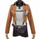 Free Shipping Attack on Titan Mikasa Ackermann Shingeki no Kyojin Armin Arlert Cosplay Costume