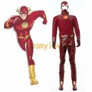 Free Shipping The Flash Barry Allen Leather Full Set Custom Made  Cosplay Costume