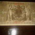 GERMAN 1000 MARK Circulated 1910 REICHSBANKNOTE BANKNOTE GERMANY Nr6389539H