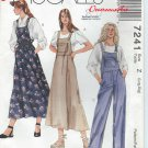 "1994-McCall's ""Easy"" Pattern 7241 -""UNCUT"" size Z (Lrg,Xlg)-Misses' Jumper and Overalls"