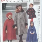 "1994 McCall's ""Easy""Pattern-UNCUT-Size CJ(10-12-14)-Children's and Girls' Lined Coat,Cape and Hat"
