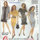 McCall's Pattern 6628-UNCUT-Size D(12-14-16)Misses' Unlined Jacket and Dress