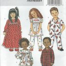 Butterick Pattern B4647-UNCUT-Size CF(4-5-6)Toddlers'/Children's Nightgown, Pajama Top and Pants
