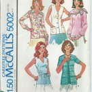McCall's Pattern 5002 -UNCUT- Size 16- Misses' Set of Blouses