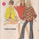 Vintage BUTTERICK Pattern 5401 - UNCUT - Size Large - Easy Young Junior / Teen Poncho