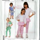 1989-Simplicity Pattern 9272-Size A(3-4-5-6-6x)-Child's Pull-on Pants with Attached Skirt and  Top