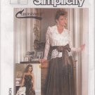 "Simplicity ""Connoisseur Collection"" Pattern 7163 UNCUT-Size 6-Misses' Blouse, Camisole, Skirt & Sash"