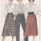 Butterick Pattern 6961 - UNCUT - Size 12-14-16 - Misses' Skirt, Culottes & Pants